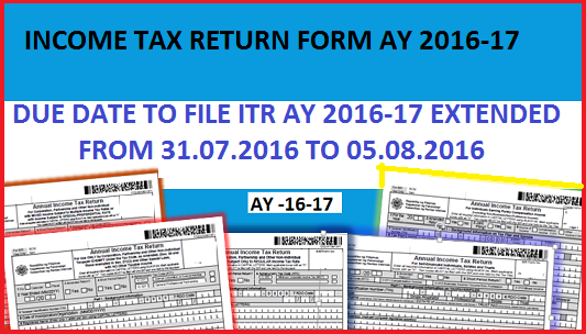 Due date for filing ITR for AY 2016- 2017 Extended.png