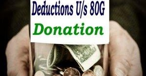 Donation Deductions Us 80G of Income Tax