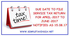 DUE DATE TO FILE SERVICE TAX RETURN-ST