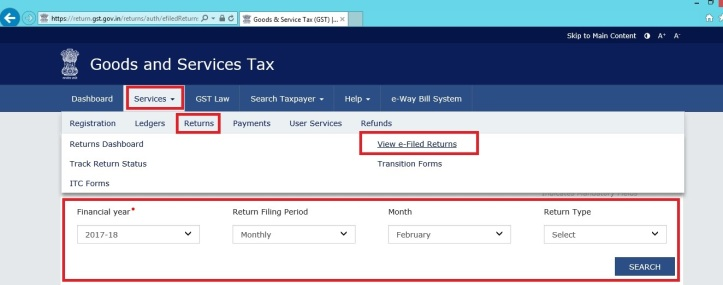 How do download the GST Return